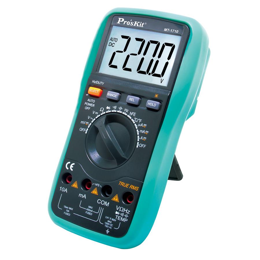 Pro'sKit 3-3/4 True-RMS Auto Range Multimeter