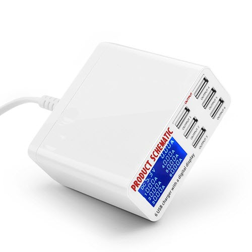 SS-304D 6-port USB intelligent fast charger