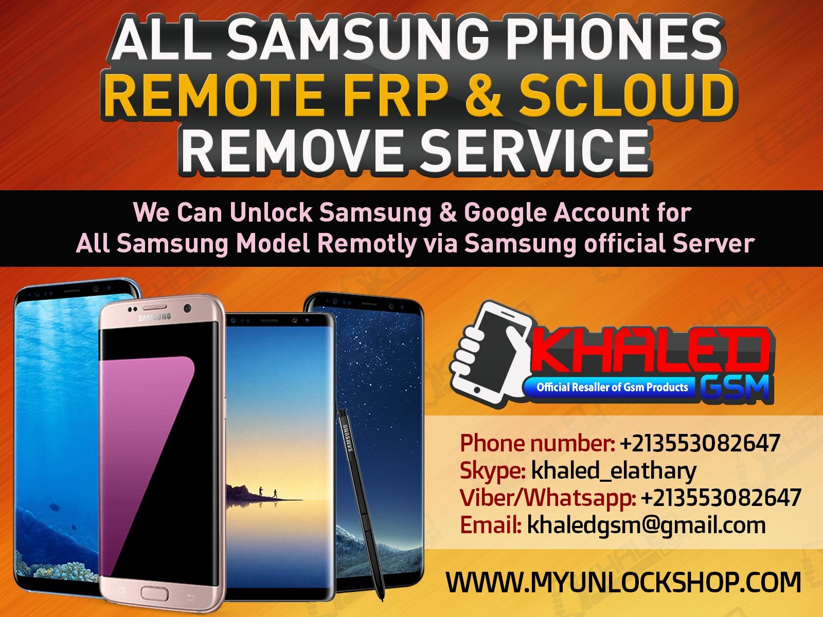 خدمة samsung frp || scloud remove متوفرة لدينا