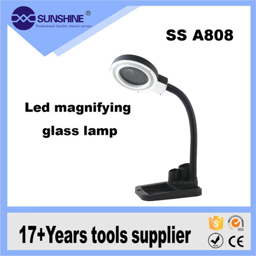 SS A808 Multifunction Portable 5x 8x Table Top Lamp Magnifie