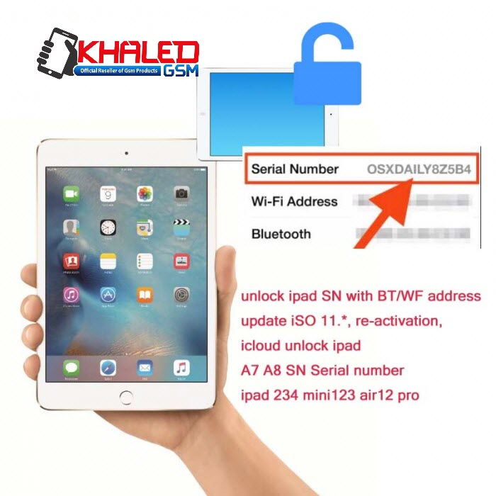 iPad SN With BT WF Address 100% Fix Activation Error