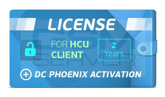 2 YEARS DC-PHOENIX + HCU UNLIMED LICENSE UNLIMITED ACTIVATION