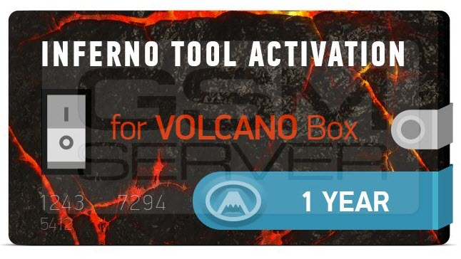 Inferno Tool 1 Year Activation for Volcano Box ( 39 Credits)