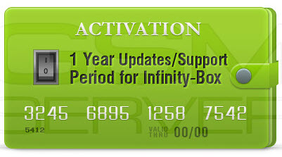 Infinity-Box/Dongle 1 Year Support Activation Chinese Miracle-2 (Release) included