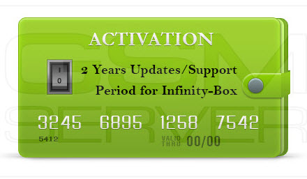 Infinity-Box/Dongle 2 Year Support Activation Chinese Miracle-2 (Release) included