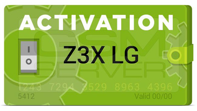 LG ACTIVATION FOR Z3X BOX